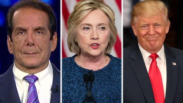 Krauthammer: Clinton struggles against kinder, gentler Trump