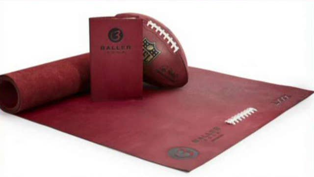 Yoga mat made from football leather sells for $1,000
