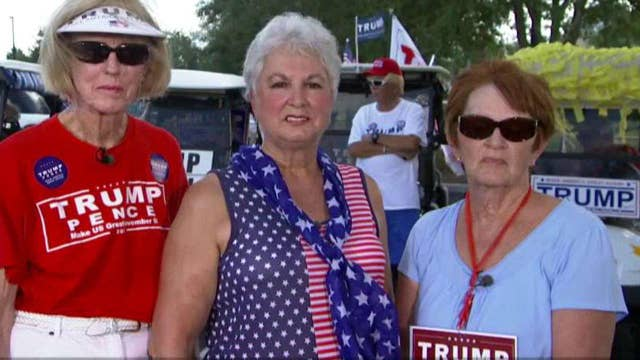 Supporters parade for Donald Trump in The Villages