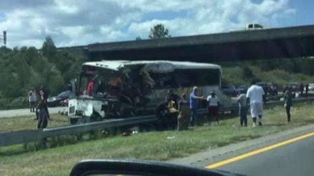 Multiple deaths, dozens hurt in NC bus crash