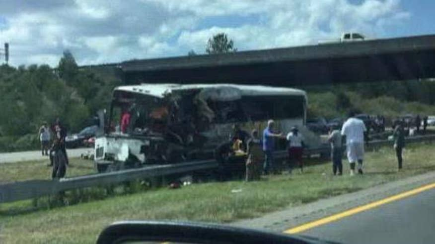 A bus crash in North Carolina causes multiple deaths and injures dozens
