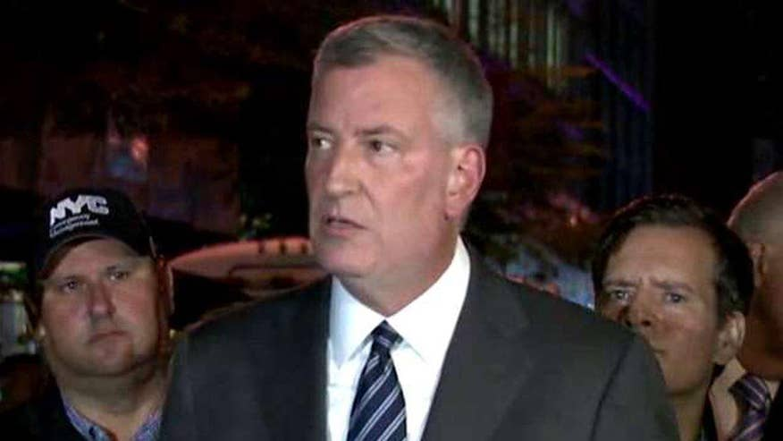 Bill de Blasio briefs media on explosion in Chelsea neighborhood