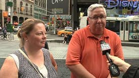 NYC locals and tourists react to rising terror levels following the attack in the Manhattan neighborhood of Chelsea. Rob Demetrious reports
