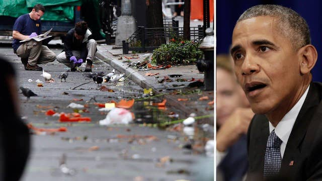 Obama cautions against drawing conclusions after explosions
