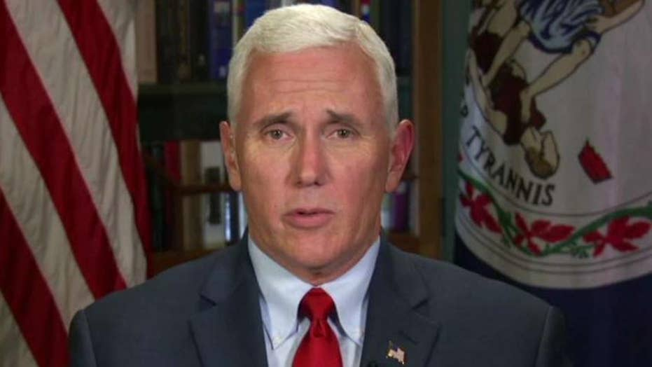 Mike Pence responds to President's criticism of Trump