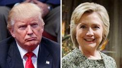 Donald Trump narrowly leads Hillary Clinton in the battleground states of Nevada, North Carolina, and Ohio.
