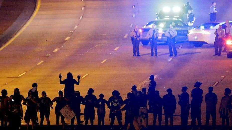 Third night of Charlotte protests mostly peaceful