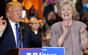 Donald Trump and Hillary Clinton disagree