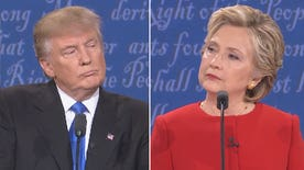 Presidential nominees spar at the first presidential debate at Hofstra University
