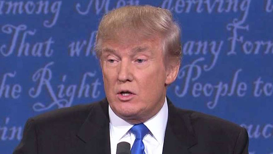 Republican presidential nominee tells debate moderator 'you're wrong'