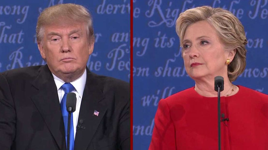 Presidential nominees clash at the first presidential debate at Hofstra University
