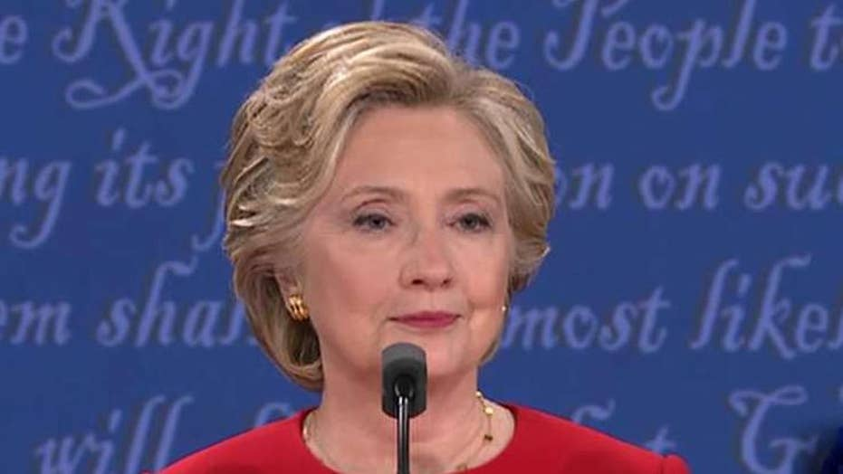 Did Clinton silence questions about stamina at debate?