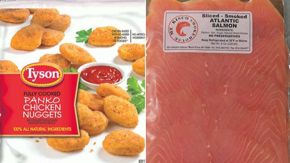 Massive recall for chicken nuggets, smoked salmon