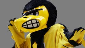 University of Iowa professor asks Athletics Dept. to allow angry-looking mascot to display wider array of facial expressions to nurture incoming students; college outdoor club cancels event over concerns it's not inclusive of people who don't go outdoors