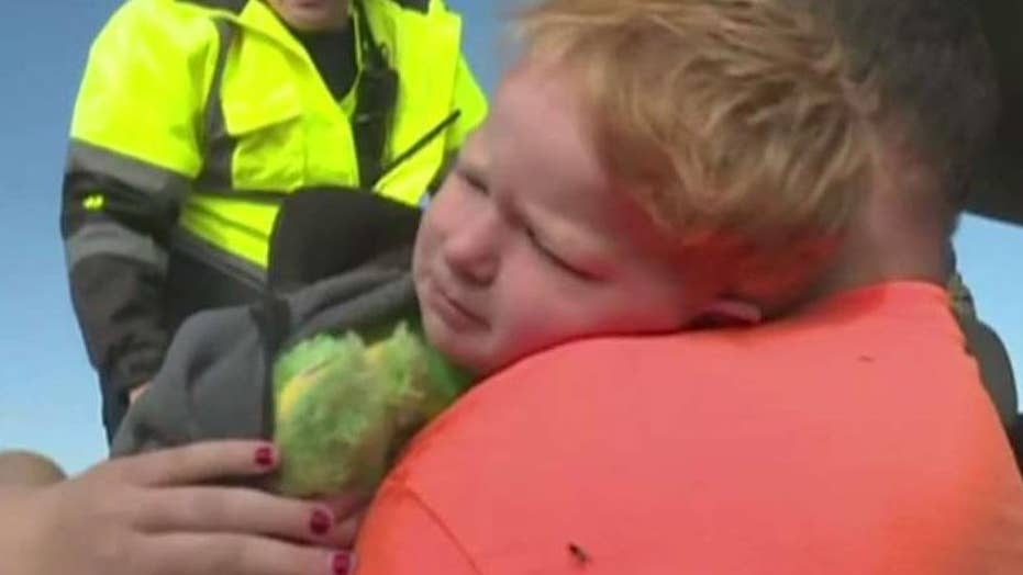 Toddler found safe after being lost in field for 20 hours