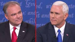 Republican vice presidential nominee Mike Pence dominated conversations on Twitter during his feisty debate with Democratic nominee Tim Kaine Tuesday.