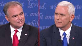 Democratic vice presidential nominee challenges the Republican presidential nominee to produce his taxes; Mike Pence says Donald Trump will provide tax returns once audit is over