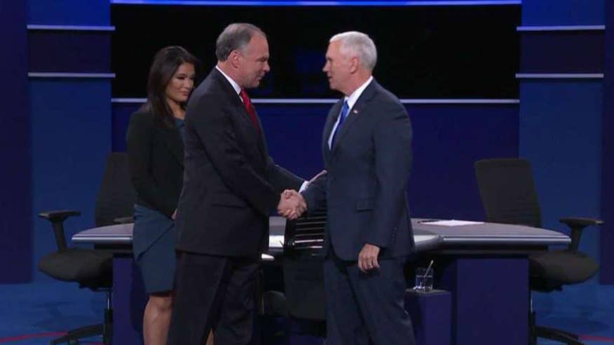Tim Kaine and Mike Pence answer questions about presidential leadership, trustworthiness, temperament
