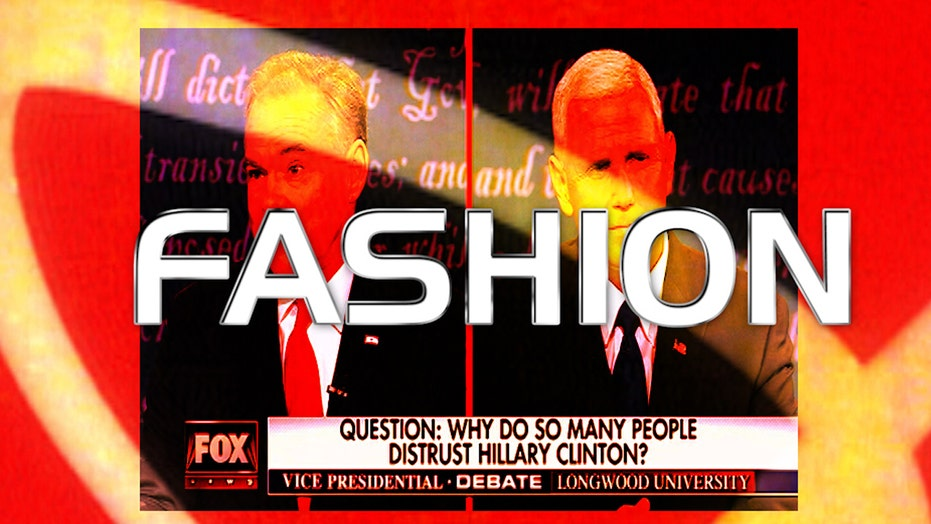 Fashion face-off: Kaine v Pence