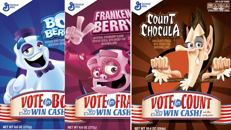 Chew On This: Franken Berry, Count Chocula and Boo Berry monsters are vying for your vote