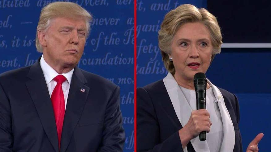 Donald Trump and Hillary Clinton discuss Clinton's handling of classified emails, lowering health care costs and the fate of ObamaCare