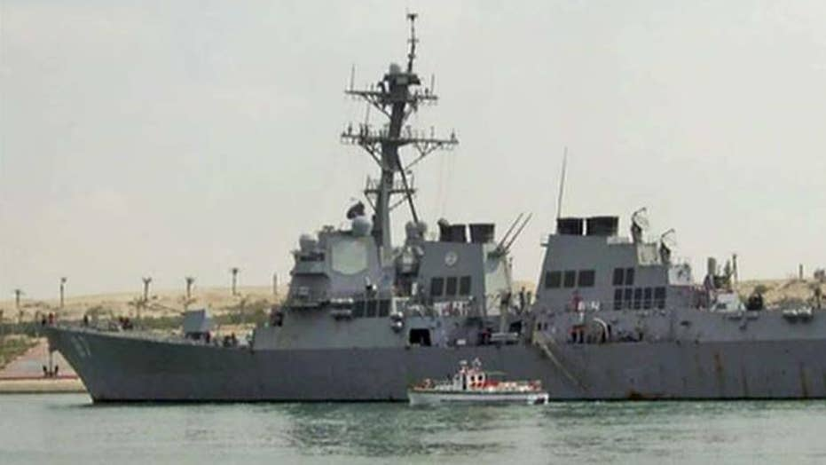 US Navy destroyer targeted by missiles from rebel-held Yemen