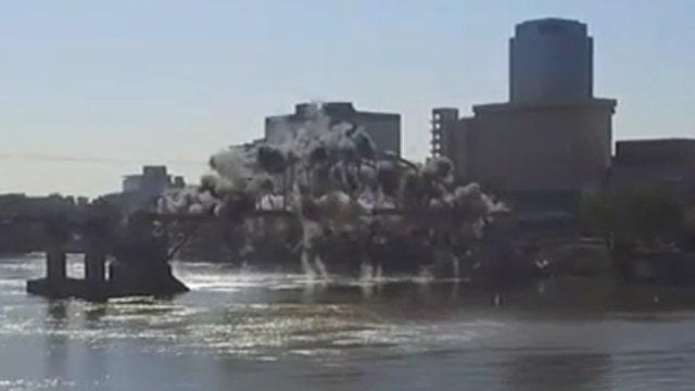 Implosion fail: Bridge stays standing in demolition attempt