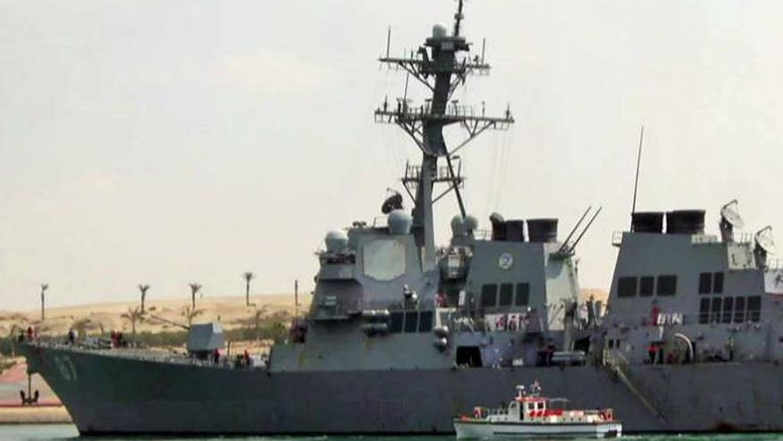 Iran-backed rebels fire at American ship