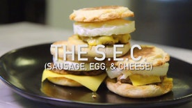 Grumble: Sausage lovers rejoice, this homemade SEC - sausage, egg and cheese - will blow the classic McMuffin away. Prepared by Institute of Culinary Education's James Briscione