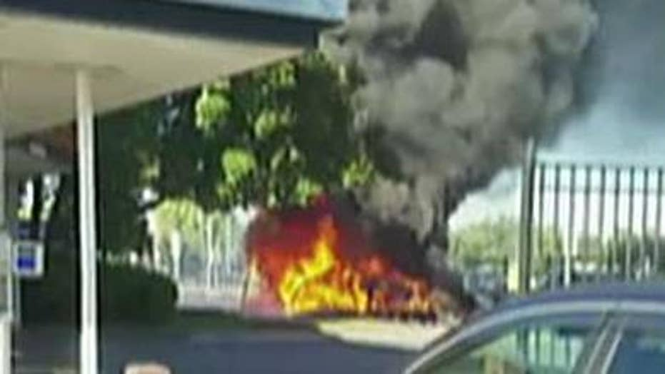 Fiery plane crash in Connecticut kills one, injures three