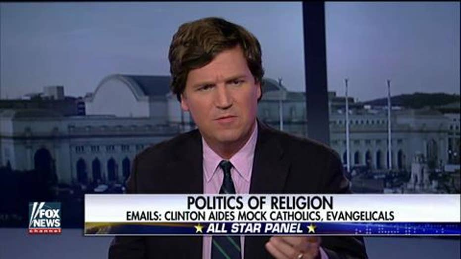 Carlson furious about leaked Clinton staffer emails