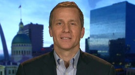 Candidate Eric Greitens reacts to this rising poll numbers