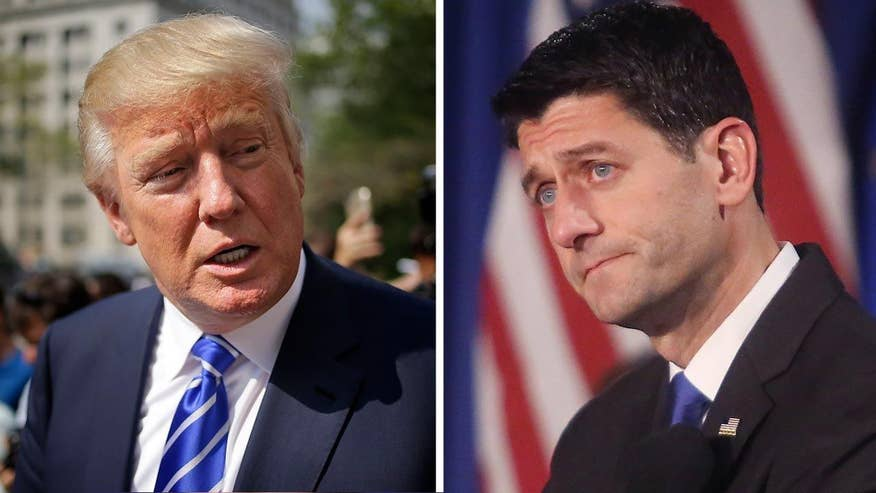 The House speaker continues to keep his distance from the nominee despite facing blowback from many in the GOP; James Rosen has the story for 'Special Report'