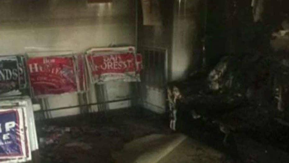 Authorities: GOP office in North Carolina 'firebombed'