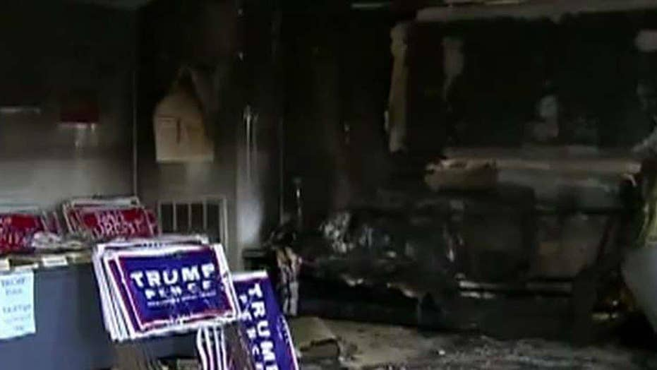 Firebomb attack at NC Republican party office