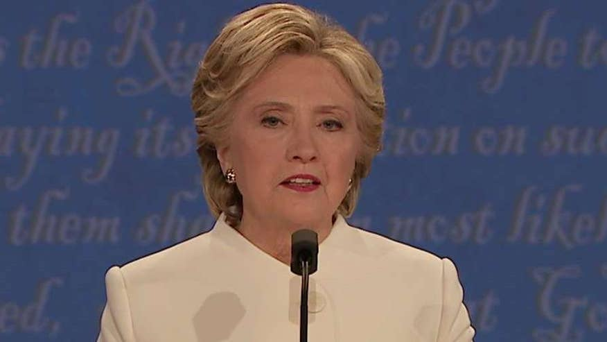 Democratic presidential nominee responds to question of fitness to be president at the final debate at the University of Nevada Las Vegas