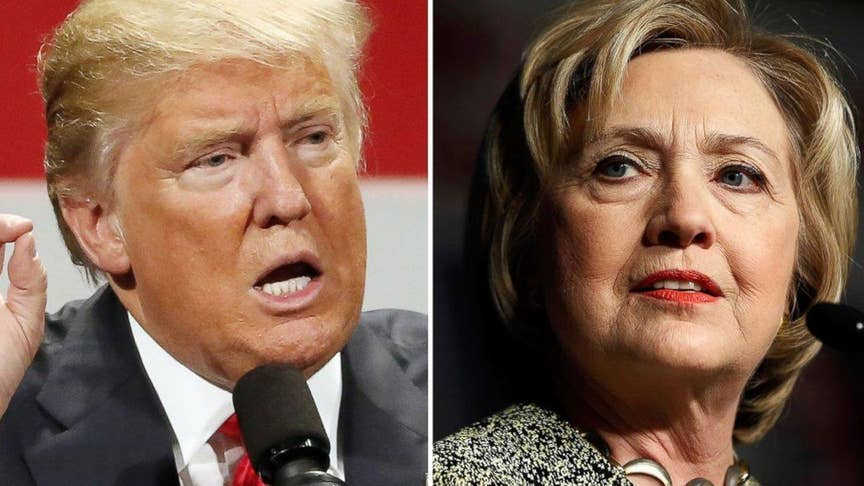 Clinton, Trump rooted in battlegrounds Ohio, Pennsylvania, Virginia with time expiring