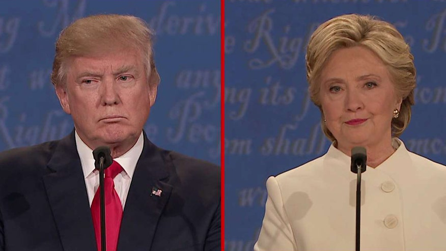 Donald Trump and Hillary Clinton debate Supreme Court appointments, Second Amendment rights and reproductive rights