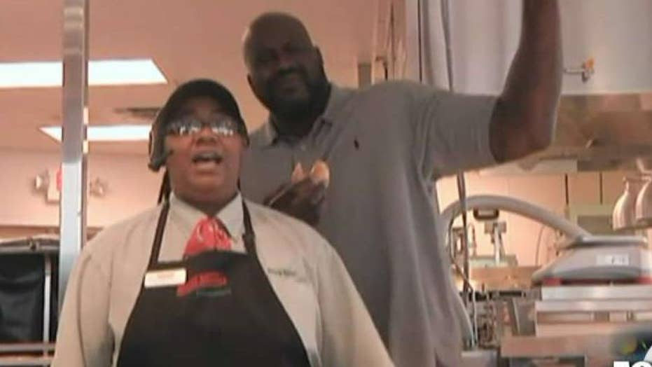 Basketball superstar Shaq now owns a Krispy Kreme