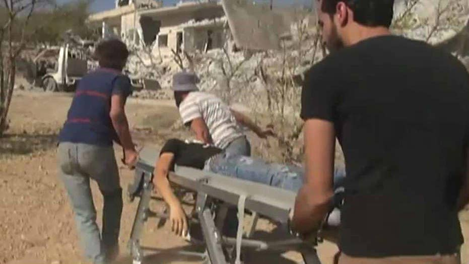 Deadly airstrike outside school in Syria