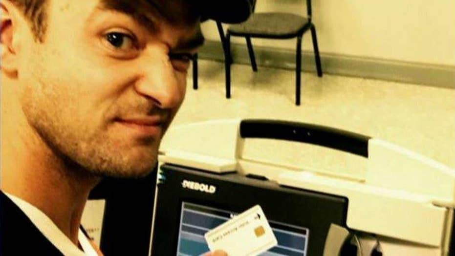 Justin Timberlake in hot water after ballot selfie