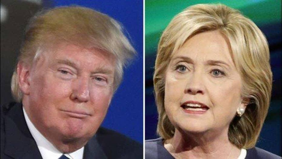 Clinton, Trump battle for key swing states