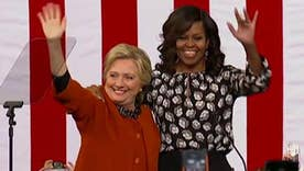 Michelle Obama and Hillary Clinton hit campaign trail together in NC
