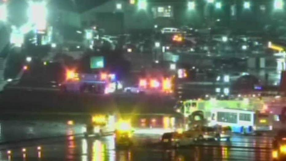 Passenger describes moment Pence plane slid off runway