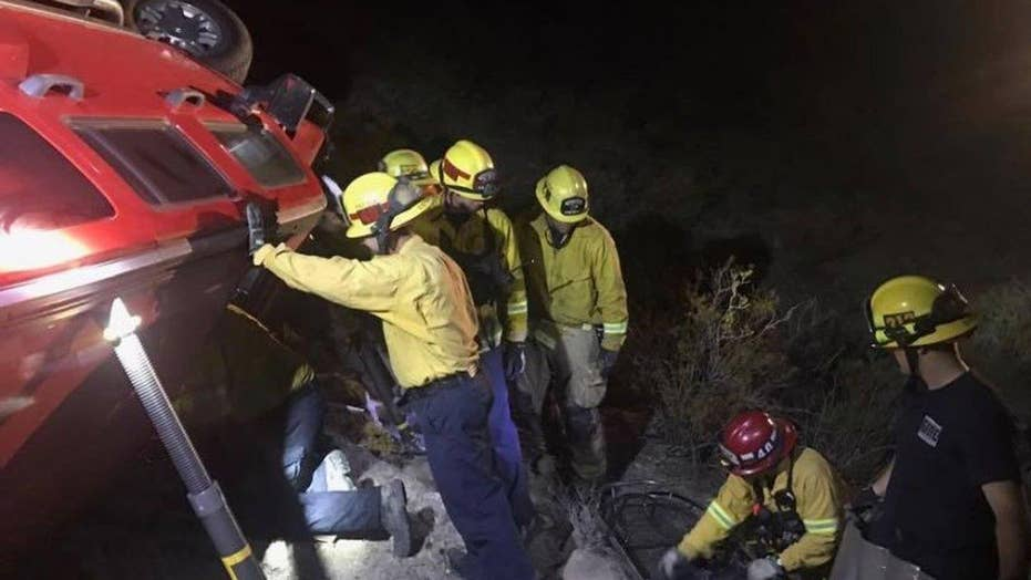 Woman pulled from wreckage five days after car crash