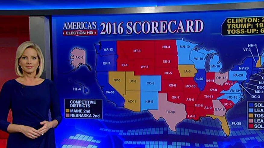 FBI's October surprise on Clinton appears to have improved Trumps overall standing in the electoral map. 'On the Record' takes a closer look