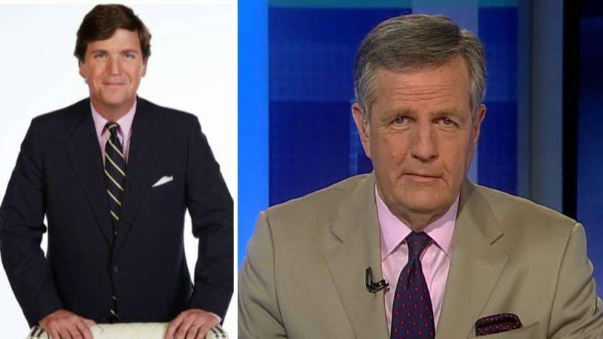 Over Twitter, Brit Hume called Tucker Carlson a 'terrific choice' to be the new host of Fox News' 7 pm hour - and viewers responded