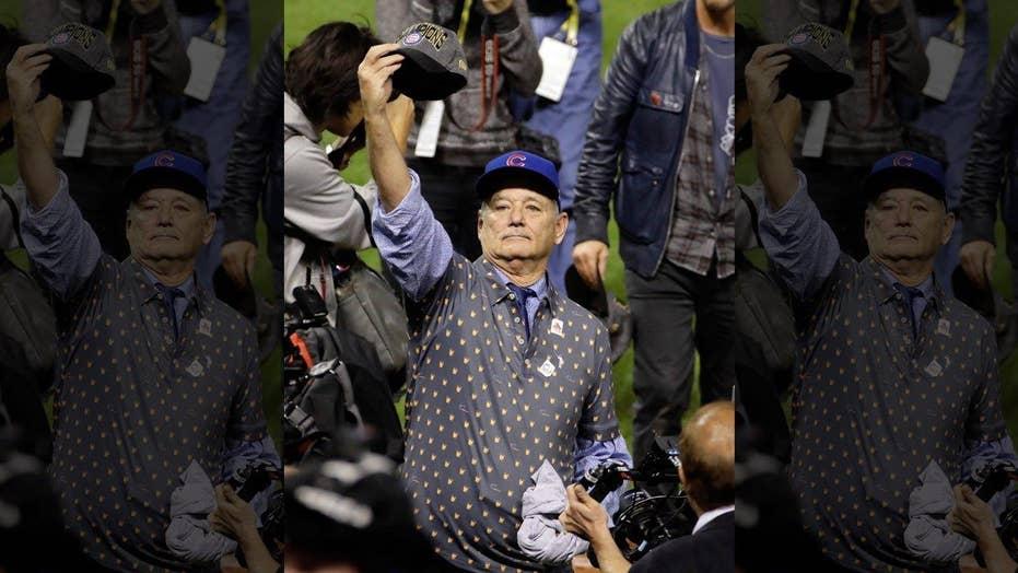 bba8d380e54 Bill Murray celebrates Cubs  World Series  win