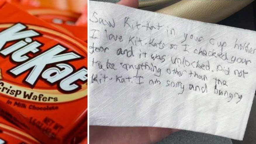 Kansas State student finds note in car after getting candy stolen from car