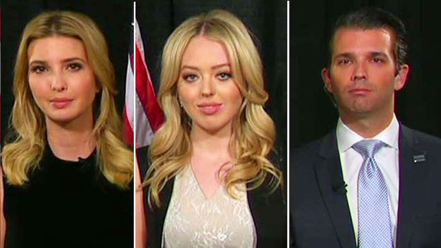 On 'Hannity,' Ivanka, Donald Jr. and Tiffany Trump share how the race has changed them